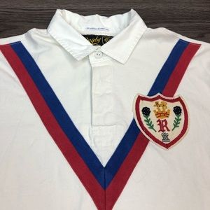 Polo by Ralph Lauren Shirts - Polo Ralph Lauren Rugby White Crest Shirt L